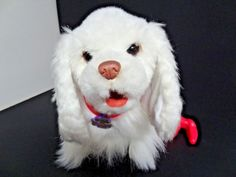 GoGo My Walkin Pup Hasbro FurReal Friends Get Up and Go White Dog ADORABLE!! #Hasbro