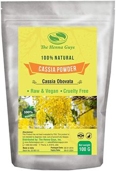 Amazon.com: 100% Pure Cassia OBOVATA Powder for Hair - 100 Grams - The Henna Guys: Health & Personal Care Henna For Hair Growth, Henna Hair, 100 Percent Pure, 100 Pure, Raw Vegan, Cruelty Free, The Cure, The 100, Powder
