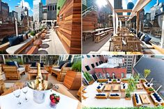 HAVEN Rooftop in the Sanctuary Hotel New York - 10 Prettiest Places to Have Brunch in the U. (and to have a drink in the evening). 132 W St, New York, NY New York Rooftop Bar, Haven Rooftop, Hotel Weekend, Fire Island, Long Island, Sky Bar, Nyc Hotels, York Restaurants, Hotel Architecture