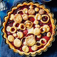 This delicious, sweet pie, filled with juicy berries is the perfect Autumnal dessert. Simple to make, using only six key ingredients, you'll be tucking in to this berry nice pie and a dollop of cream before you. | Tesco