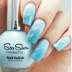 Beachy mani by @liliumzz has me dreaming of the ocean!  Helene is using our Beach Wave Nail Vinyls found at: snailvinyls.com