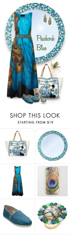 """""""Peacock Blue"""" by joy2thahworld ❤ liked on Polyvore featuring Star Mela, TOMS, Kate Spade, Eye Candy, casual, Blue and peacock"""