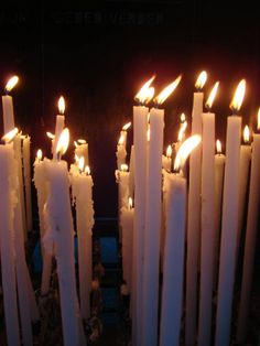 Devotion candles - Lourdes France - I bought a candle yesterday at Lourdes!