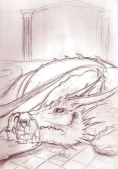Pains and sorrows -sketch- by aussie-dragon on @DeviantArt