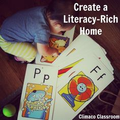 7 Tips for Creating a Literacy-Rich Home via Climaco Classroom #literacy #reading #home