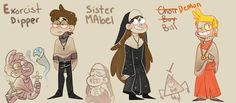 """""""more stuff for church au, stan and gideon are next the things choir boys have to wear is hilarious """" Gravity Falls Comics, Gravity Falls Au, Dipper And Mabel, Mabel Pines, Gravity And Time, Cartoon N, Mabill, Falls Church, Creepy Art"""
