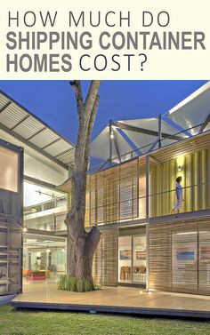 How much do shipping container homes cost?   by ShippingContainerIdeas.com  Shipping container homes, shipping container houses, cargo container homes, tiny houses, tiny homes