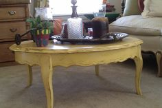 Recent find - yellow coffee table - LOVE IT!