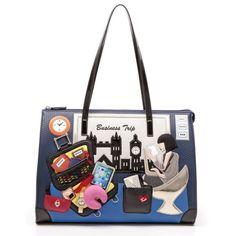 Cartoline Business Trip Shopping Bag - Braccialini