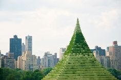 The Living Pyramid by Agnes Denes, NYC