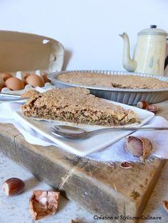 La tarte noix-noisette façon macaron, une authentique recette de ma Grand-Mère! Pour plus d'infos : www.jecuisinesansgluten.com