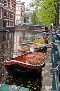Amsterdam Boats 8 x 12 by SmallHandsPhotos on Etsy, $20.00
