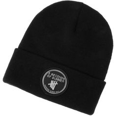 5 Seconds of Summer Black Knit Beanie Hat ($5.99) ❤ liked on Polyvore featuring accessories, hats, black knit beanie, black hat, logo hats, knit hats and summer hats