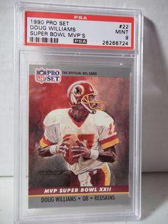 1990 Pro Set Doug Williams PSA Mint 9 Football Card #22 MVP NFL Collectible #TampaBayBuccaneers