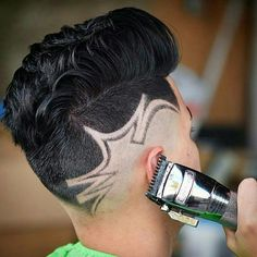 N/A Undercut Hairstyles, Hairstyles Haircuts, Boys Mohawk, Undercut Hair Designs, Beard Cuts, Beard Styles, Hair Styles, Shaved Hair Designs, Hot Haircuts
