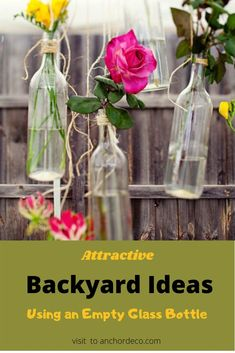 Keep reading for an ideal DIY project that can be made with glass bottles! There are many DIY projects that will enhance the beauty and function of your outer space to an entirely new level. This is a cool DIY project that can be created in less than an hour. #diyprojects #emptyglassbottle #backyard #recycleideas #diybackyard Empty Glass Bottles, Small Glass Jars, Cool Diy Projects, Outdoor Projects, Outdoor Decor, Backyard For Kids, Backyard Ideas, Garden Ideas, Small Terrarium