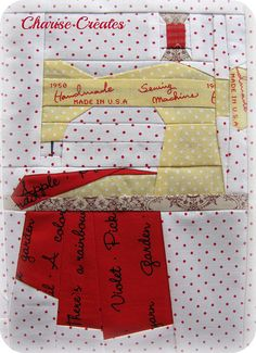 Texting while sewing & Amy's Cocorico Block by Charise *, via Flickr