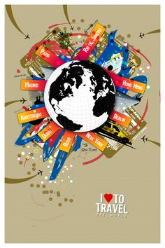 I Love to Travel The World by `dinyctis on deviantART