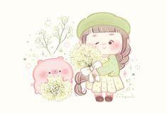 Pig Wallpaper, Soft Wallpaper, Cute Food Art, Cute Art, Nostalgia Art, Pusheen Cute, Kawaii Doodles, Cute Piggies, Cute Cartoon Wallpapers