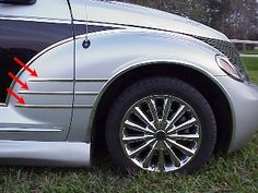 Chrysler PT Cruiser Accessory - ACC Chrysler PT Cruiser Retro Chrome Fender Spears