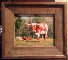 Texas Ranch, Longhorns, Rustic Decor, Cow, Frame, Etsy, Home Decor, Homemade Home Decor, A Frame
