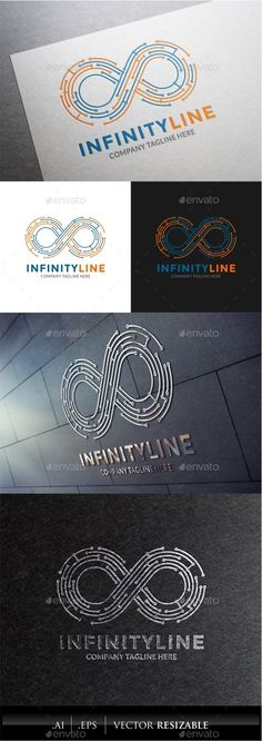 Infinity Line Logo — Vector EPS #studio #link • Available here → https://graphicriver.net/item/infinity-line-logo-/9956802?ref=pxcr