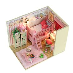 Dollhoue Gift diy model house pink with light toy $41.33 **I have bought from this seller and they are reliable. the kits are completely DIY and include EVERYTHING you see in the pictures including the lights.**