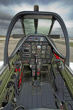 "Cockpit of ""Crazy Horse"", the P-51 Mustang that I had an opportunity to fly during a trip to Kissimmee, Florida."