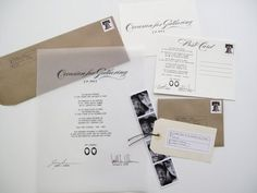 Check out this invitation sister ~ some really fun ideas! Love the black and white photo strip enclosed!  :)