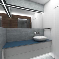 Moderní koupelna CROSS BLUE - Pohled na umyvadlo