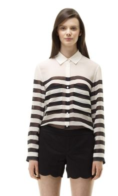 Lauren Shirt - Club Monaco Long Sleeve - $129