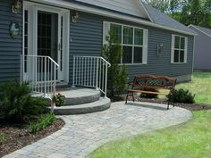 You really can't go wrong with precast concrete steps. They are durable, environmentally friendly, and add curb appeal. Learn more about precast concrete steps. | The Step Guys