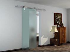 Sliding Door Kit Opaque Glass 840 X 2080mm Internal