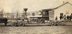 Pine River & Stevens Point RR Locomotive | Photograph | Wisconsin Historical Society