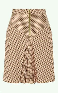 Bordeaux Pleated Checked Yoke Skirt by MANOUSH for Preorder on Moda Operandi Source by African Print Skirt, African Print Fashion, African Fashion Dresses, Fashion Outfits, Work Skirts, Cute Skirts, African Wear, African Dress, Skirt Outfits