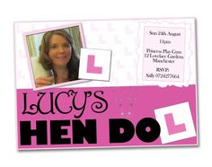 Maid of honour, go the extra mile with custom made personalised hen do invites!    What a brilliant idea! What do you think?