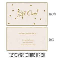 Aqua Bokeh Floral Swirl Gift Certificate Template  It Is Click