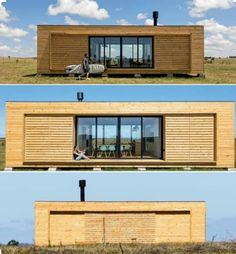 Modular shipping container homes by Cocoon Modules: Athens-based company Cocoon Modules in collaboration with eco-furniture brand Coco-Mat has created a modul Tiny House Cabin, Tiny House Design, Modern House Design, My House, Sea Container Homes, Container House Plans, Shipping Container Homes, Container Buildings, Container Architecture