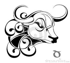 Taurus.Tattoo design.