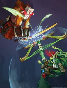 Dota 2 -Juggernaut VS Medusa by WingBuffet on DeviantArt Dota Warcraft, Juggernaut Dota 2, Dota 2 Cosplay, Dota2 Funny, Warrior Of The Light, Defense Of The Ancients, Dota 2 Wallpaper, Dota 2 Game, Gaming Wallpapers