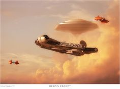 Had a request from a Star Wars mad 7 year old relative for a Millenium Falcon picture Millenium Falcon by A Rivard Twin pod by Sebastian Cloud City by U. Star Wars Ships, Star Wars Art, Star Trek, Millenium Falcon, Cloud City, Star Wars Wallpaper, Marvel, The Empire Strikes Back, Star Destroyer