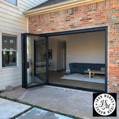 Bifold functionality #bifolddoors #dallasbuilders #howitworks ##homeinspo4you #dallasdesigndistrict #luxurydesign #foldingdoors #homeremodeling #customdoors #patio #patiodesign #backyarddesign #opendesign #homegoals #jsmironworks #pinterest #trifold #summer #2020 #patiogoals😍 Piscina Rectangular, House Gate Design, Painted Front Doors, Openness, Patio Doors, Patio Design, My Dream Home, Glass Door, Home Interior Design