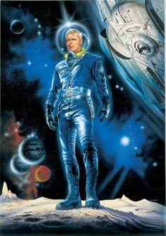"""Renato Casaro — Perry Rhodan in """" Galornenanzug"""" by Karl-Herbert Scheer, 1998 Space Hero, Space Age, Science Fiction Kunst, Character Art, Character Design, Character Concept, Perry Rhodan, Arte Sci Fi, Doctor Who"""