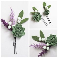 Set for rustic wedding, succulent hair pin and boutonniere, craspediya, ear of wheat. Rain Wedding, Diy Wedding Hair, Wedding Hair Pieces, On Your Wedding Day, Bridal Flowers, Felt Flowers, Flowers In Hair, Vintage Hair Accessories, Flower Hair Accessories