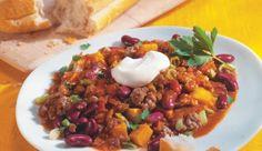 Aus dem mexikanischen Klassiker wird mit einfachen Handgriffen ein Kürbis-Chili-Con-Carne mit leicht-nussiger Note