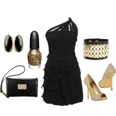 Black & Gold ~ Day dreaming about the perfect New Year's Eve outfit!