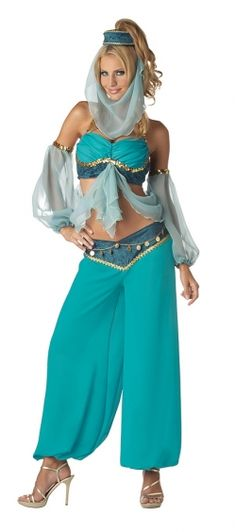 Arabian Harem Jewel costume is a must have for any international party or Disney party. Perfect as a harem costume, Arabian costume, Jasmine costume and Disney costume! Buy Arabian Jewel costume now. Belly Dancer Costumes, Belly Dancers, Girl Costumes, Adult Costumes, Dance Costumes, Costumes For Women, Costume Ideas, Genie Costume, Jasmine Costume