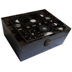 Picture of Wood Black Astronomy Box 11 X 10