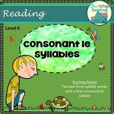 Materials to teach words with a final stable syllable le. It is compatible with many different Orton-Gillingham reading interventions.