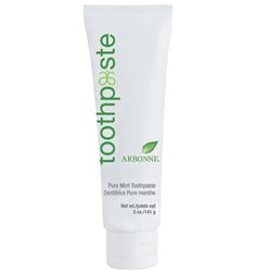 Arbonne's fluoride-free gel helps cleanse and brighten teeth. Flavorful combination of mint and spearmint, with white tea, ginger, grape, pomegranate and cranberry to freshen breath. Helps remove stains and helps prevent plaque and tartar build-up.